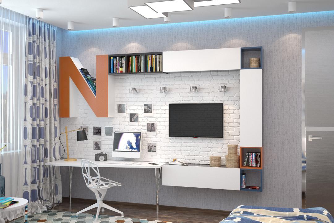 Современный дизайн спальни для подростка мальчика дизайн