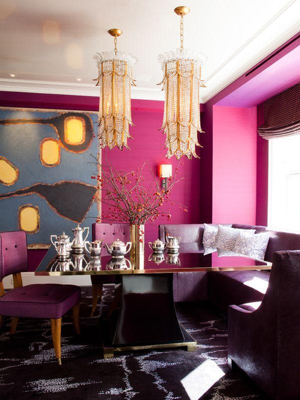 contemporary-fuschia-dining-room