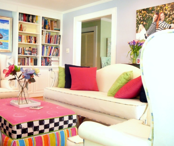 smart-home-library-design-mixed-with-great-framed-picture-and-bright-living-room-ideas-