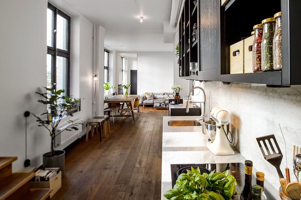 for Ideas para cocinas pequenas tipo pasillo