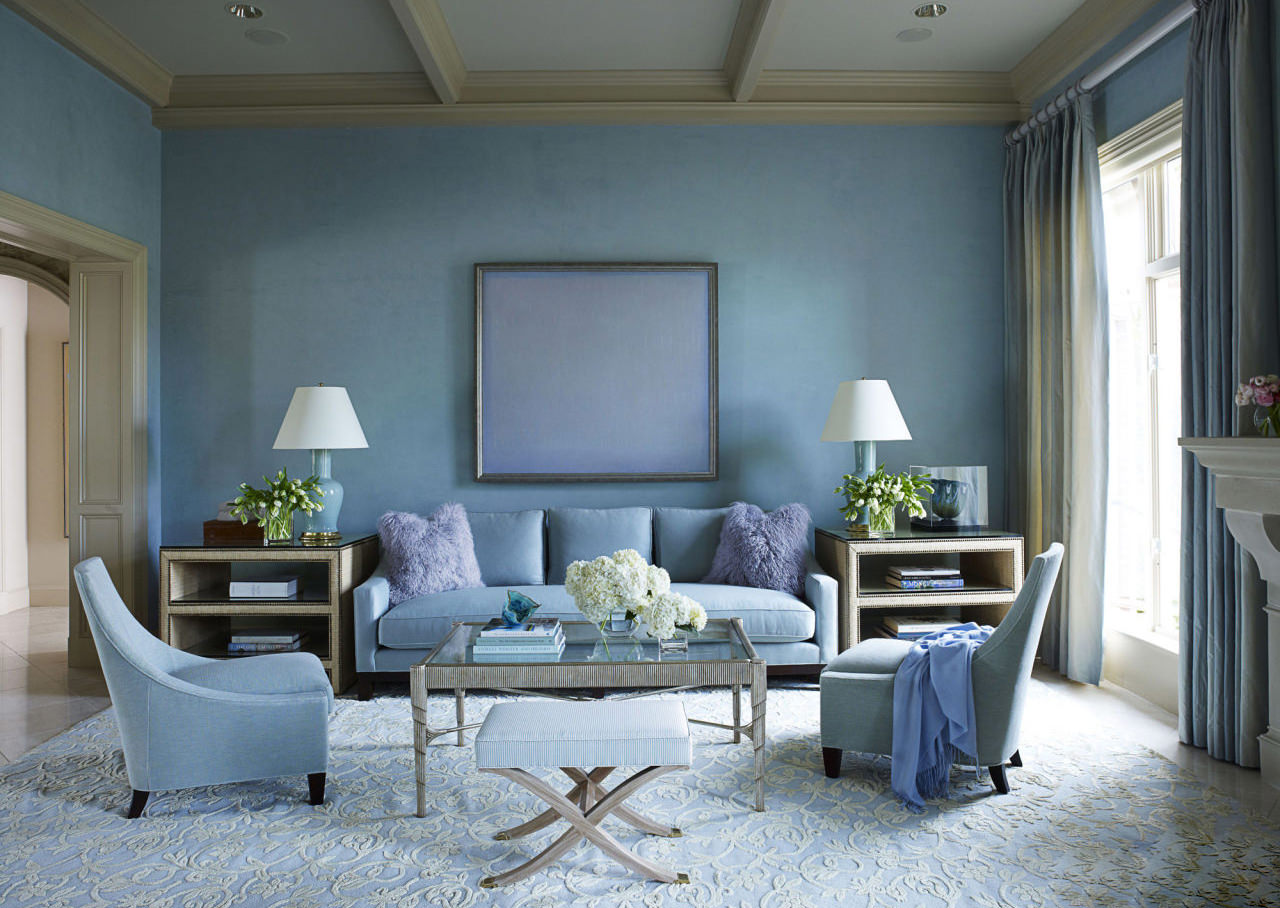 A good rule of thumb is limiting it to 3 colors and making the walls one color, the upholstery a second color