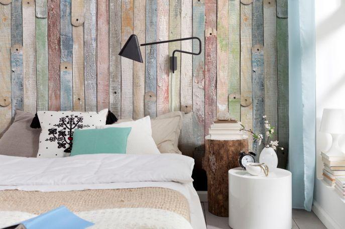 Shabby Chic – Holzlatten in frechen Pastelltönen