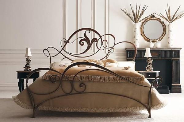 desing-crimea-кованый декор  кровать