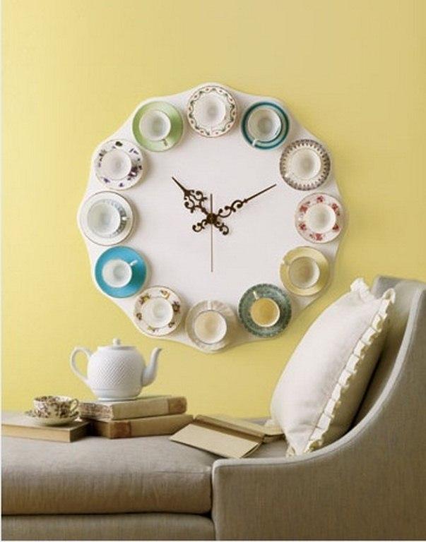 Оригинальные часы своими руками на кухню