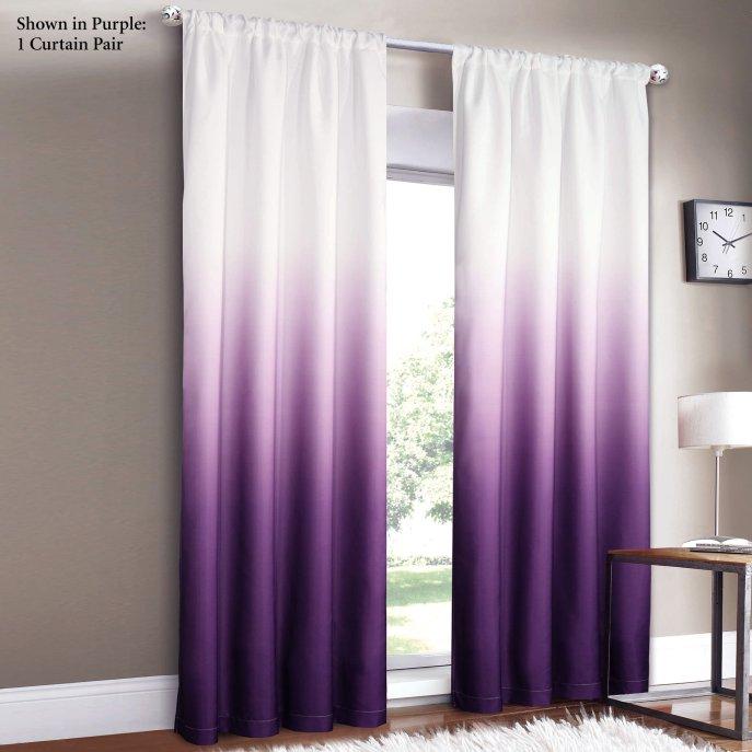Plum blackout curtains