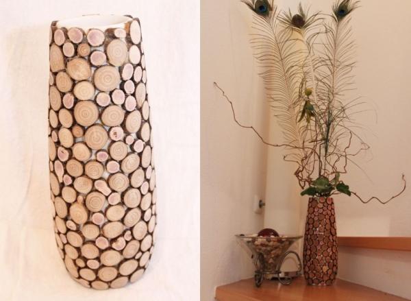 Как сделать высокая ваза своими руками